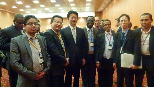 Minister Gemba and African colleagues